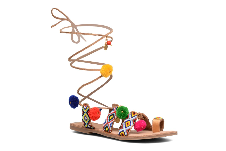 Sandales et nu-pieds Gioseppo Amuleto Multicolore vue détail/paire