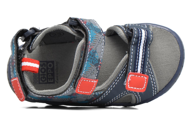 Sandales et nu-pieds Gioseppo Surferos Bleu vue gauche