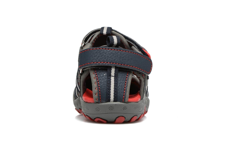 Sandales et nu-pieds Gioseppo Mess Bleu vue droite