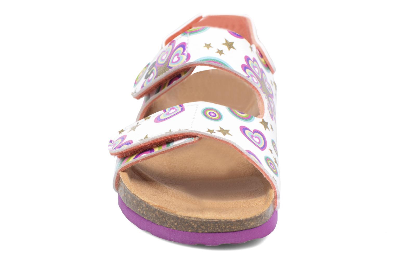 Sandales et nu-pieds Desigual Bio Velcro Multicolore vue portées chaussures