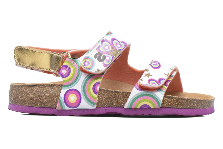Sandales et nu-pieds Desigual Bio Velcro Multicolore vue derrière