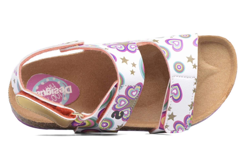 Sandales et nu-pieds Desigual Bio Velcro Multicolore vue gauche