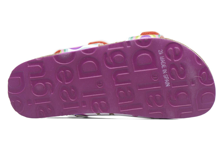 Sandales et nu-pieds Desigual Bio Velcro Multicolore vue haut