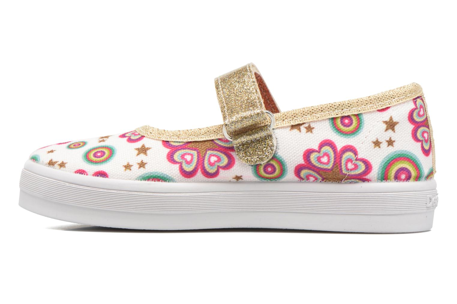 Ballerines Desigual Mary Jane Blanc vue face