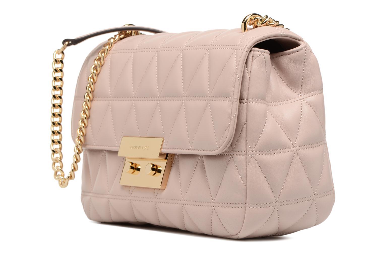 Bolsos de mano Michael Michael Kors SLOAN LG CHAIN SHOULDER Rosa vista del modelo