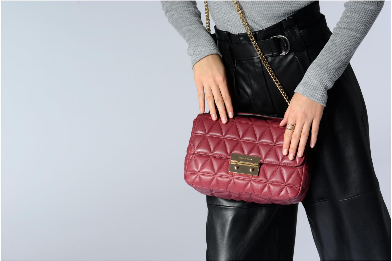 Bolsos de mano Michael Michael Kors SLOAN LG CHAIN SHOULDER Rosa vista de arriba