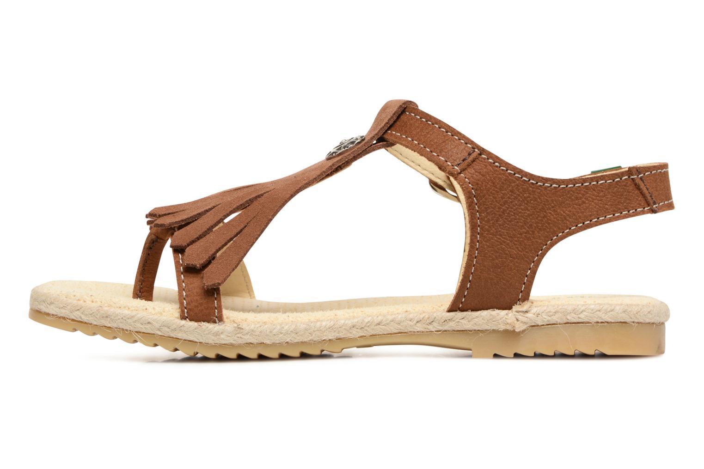 Sandales et nu-pieds El Naturalista Samoa E116 Marron vue face