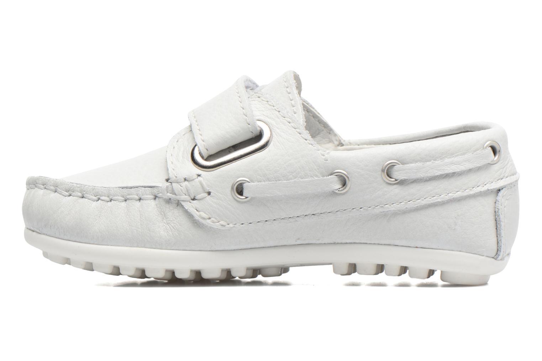 Zapatos con velcro Melania Danielo Blanco vista de frente
