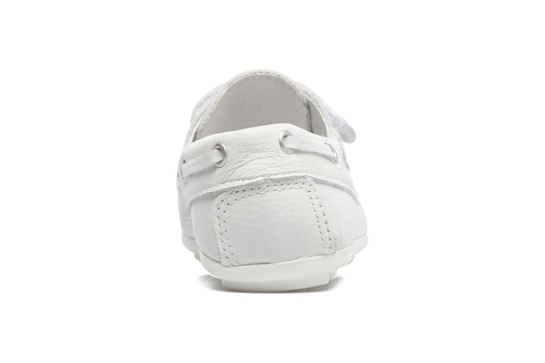 Zapatos con velcro Melania Danielo Blanco vista lateral derecha