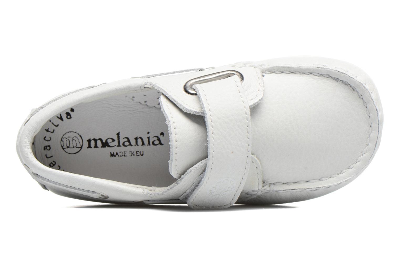 Zapatos con velcro Melania Danielo Blanco vista lateral izquierda