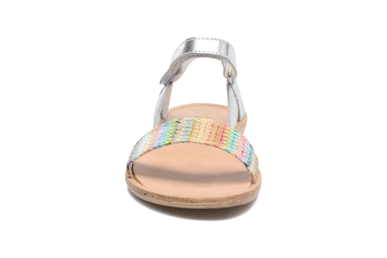 Sandales et nu-pieds Melania Valentina Argent vue portées chaussures