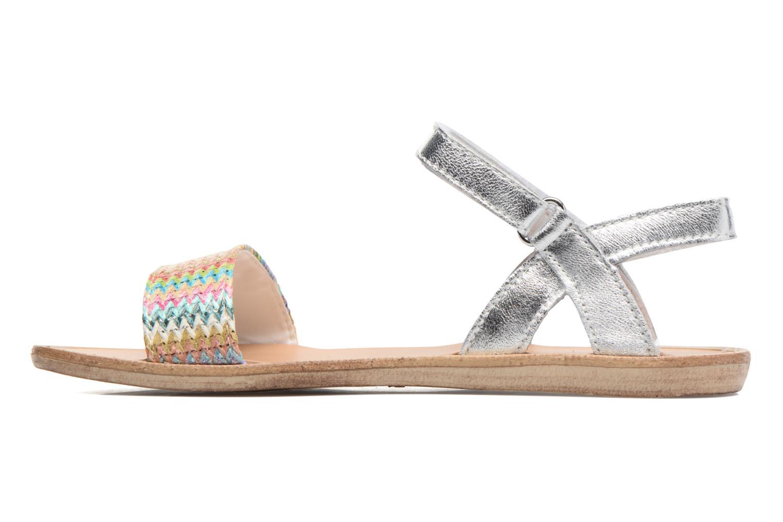 Sandales et nu-pieds Melania Valentina Argent vue face