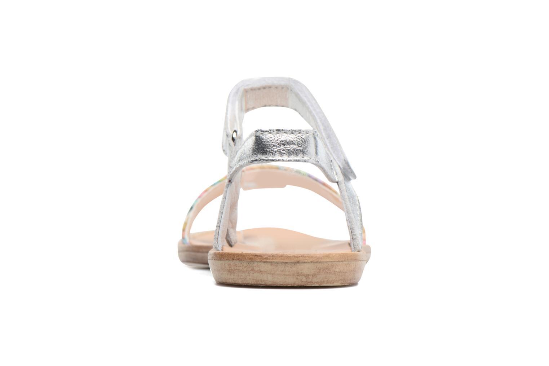 Sandales et nu-pieds Melania Valentina Argent vue droite