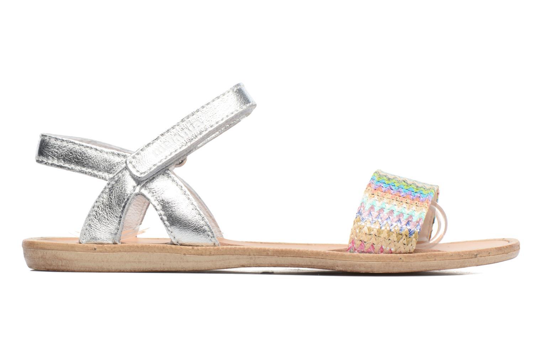 Sandales et nu-pieds Melania Valentina Argent vue derrière
