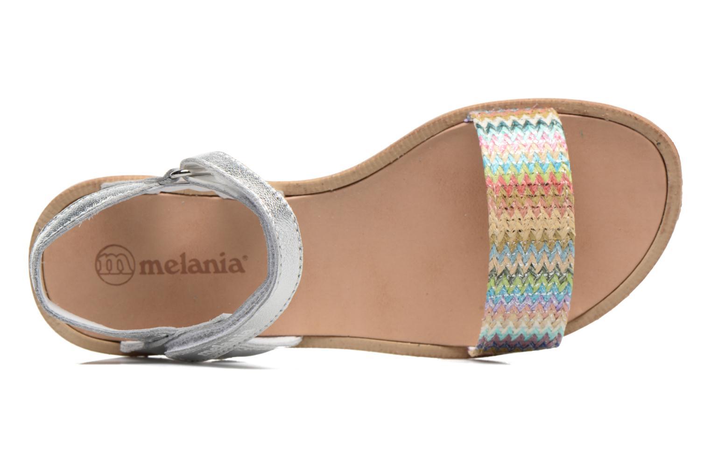 Sandales et nu-pieds Melania Valentina Argent vue gauche
