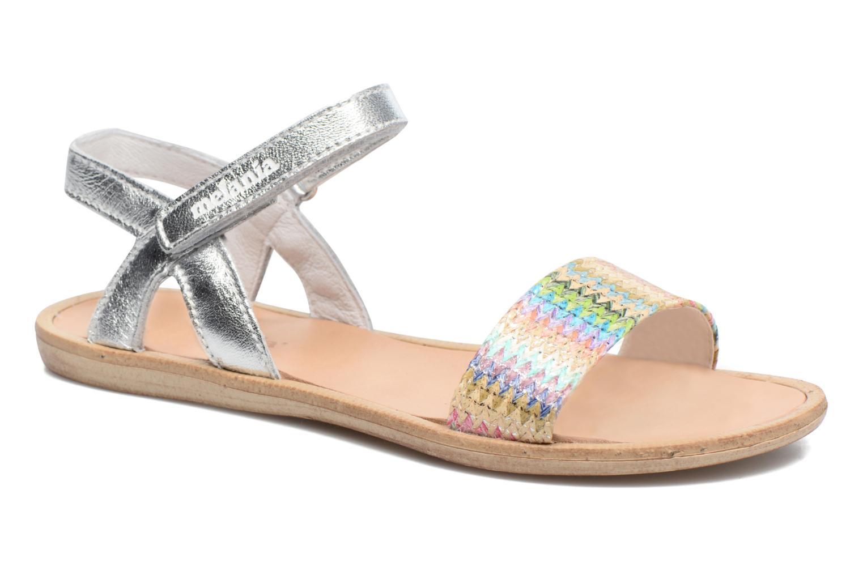 Sandales et nu-pieds Melania Valentina Argent vue détail/paire