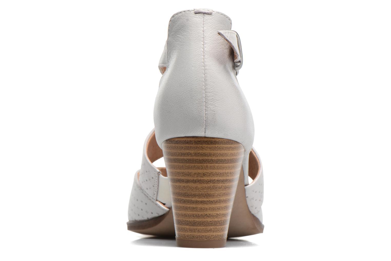 Zapatos de tacón Karston Kzetou Plateado vista lateral derecha