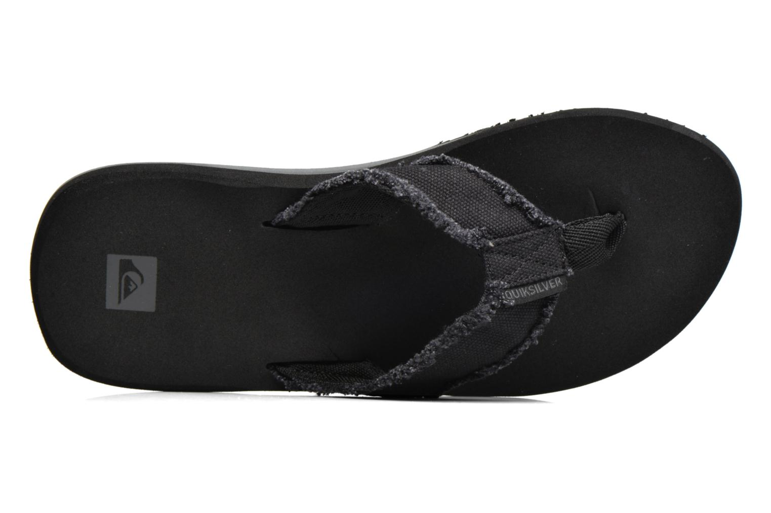 Flip flops Quiksilver Monkey Abyss M Black view from the left