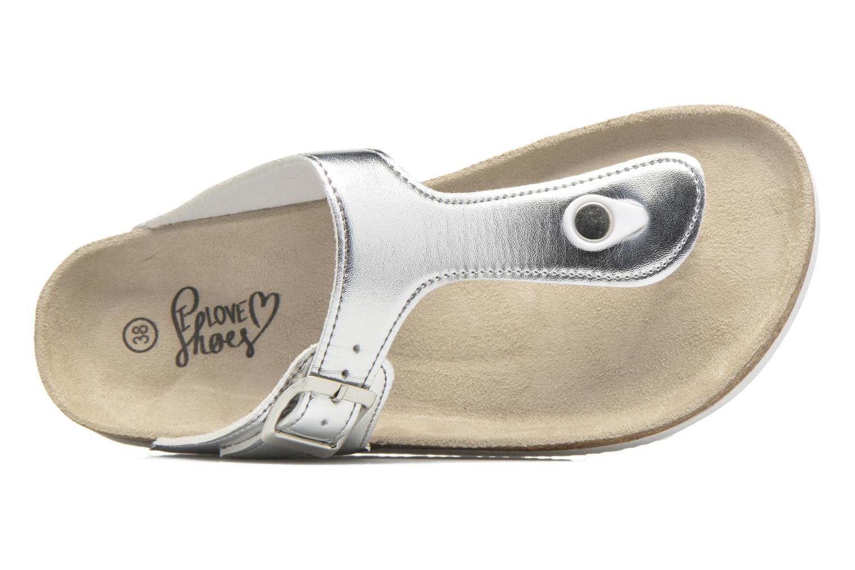 Sandalias I Love Shoes MCOLOS Plateado vista lateral izquierda