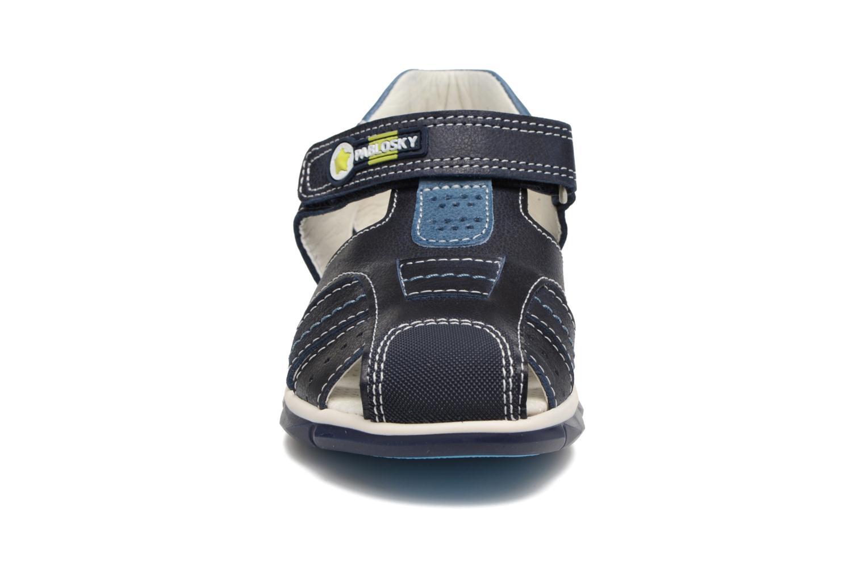 Sandales et nu-pieds Pablosky Fernando Bleu vue portées chaussures