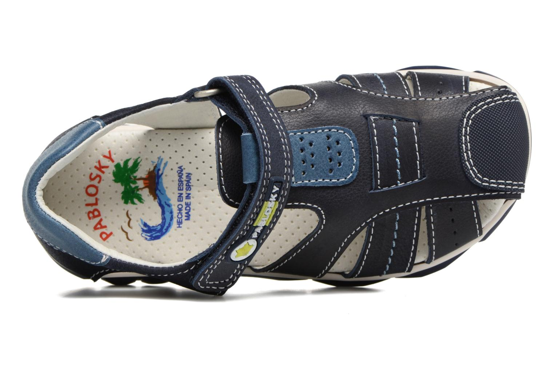 Sandales et nu-pieds Pablosky Fernando Bleu vue gauche