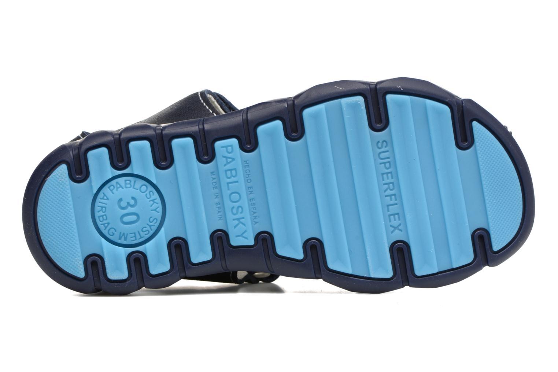 Sandales et nu-pieds Pablosky Fernando Bleu vue haut