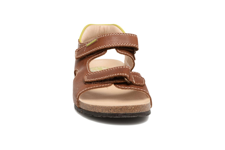 Sandales et nu-pieds Pablosky Filippo Marron vue portées chaussures