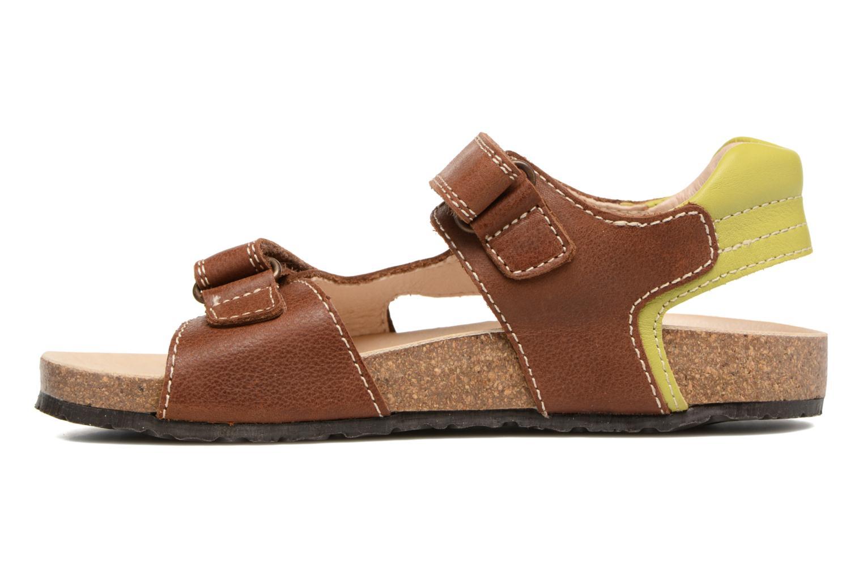 Sandales et nu-pieds Pablosky Filippo Marron vue face