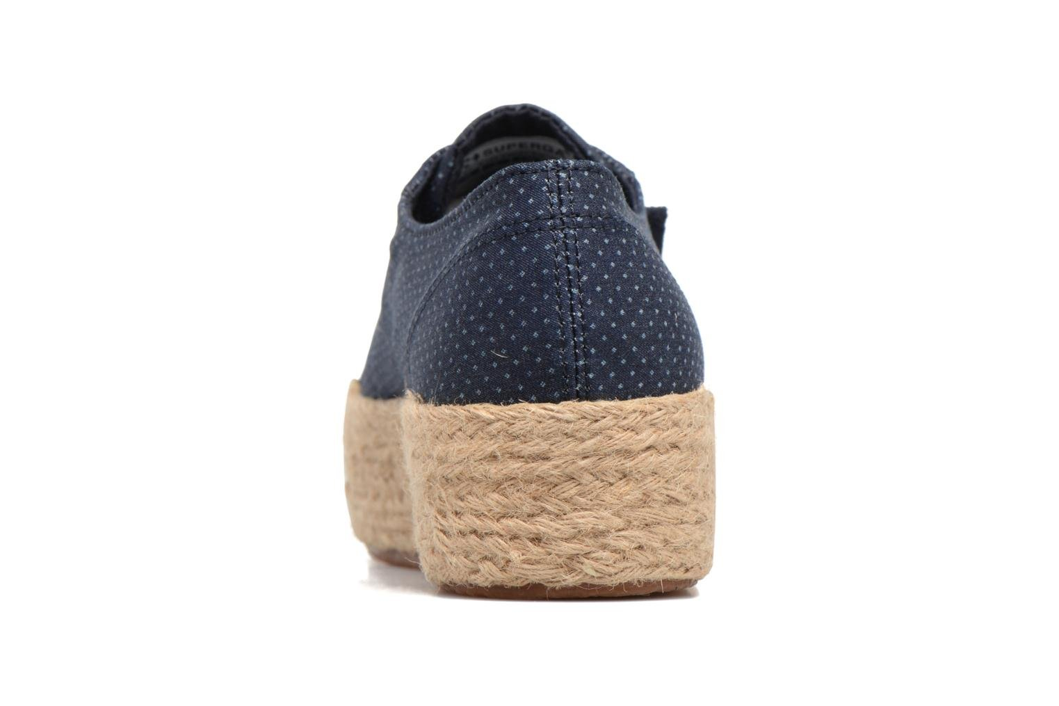 Espadrilles Superga 2790 Fabric Shirttrope W Blue view from the right