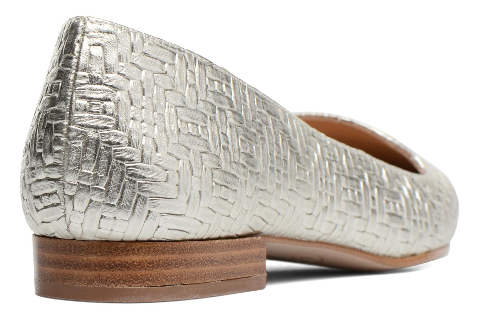Loafers Made by SARENZA Bombay Babes Mocassins #1 Silver front view