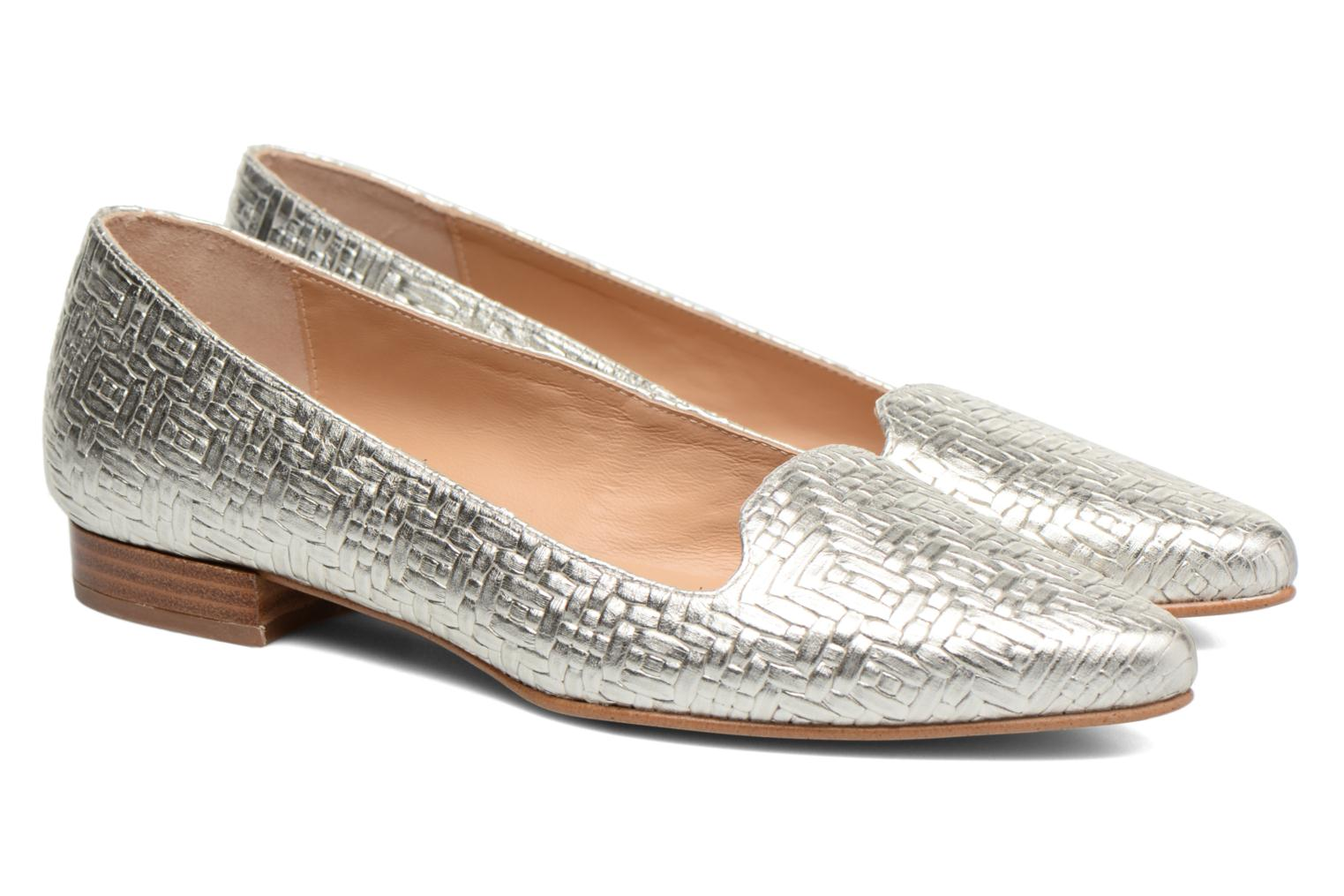 Loafers Made by SARENZA Bombay Babes Mocassins #1 Silver back view