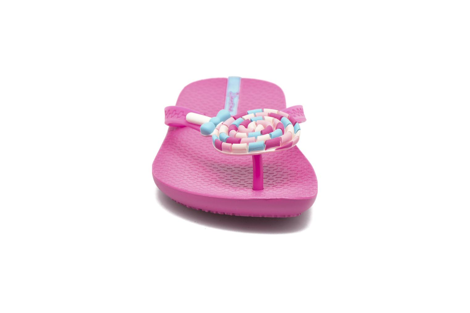 Tongs Ipanema Summer Love Kids II Rose vue portées chaussures