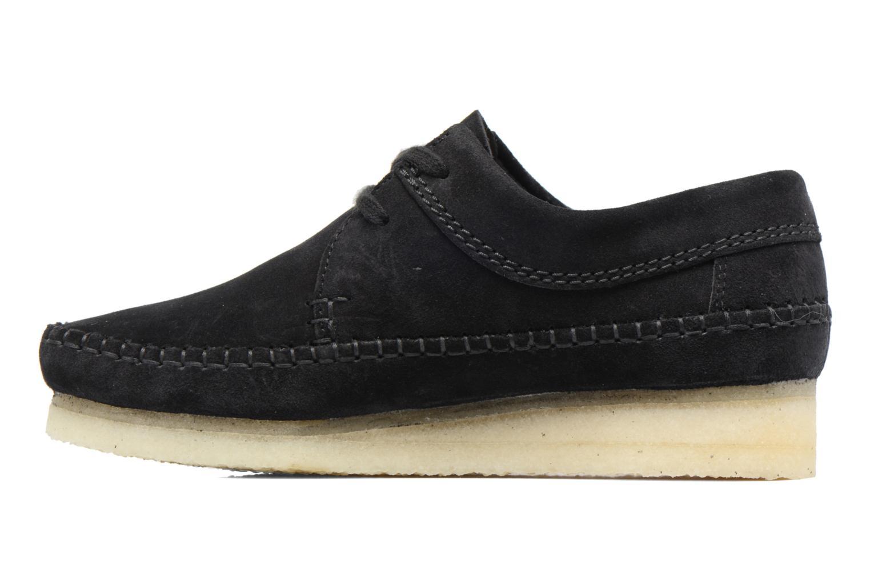 Zapatos con cordones Clarks Originals Weaver W Negro vista de frente