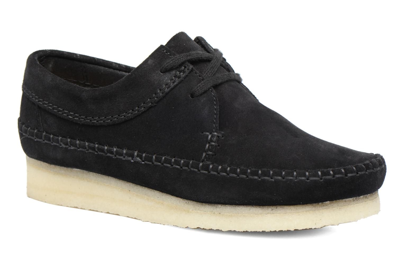 Veterschoenen Clarks Originals Weaver W Zwart detail
