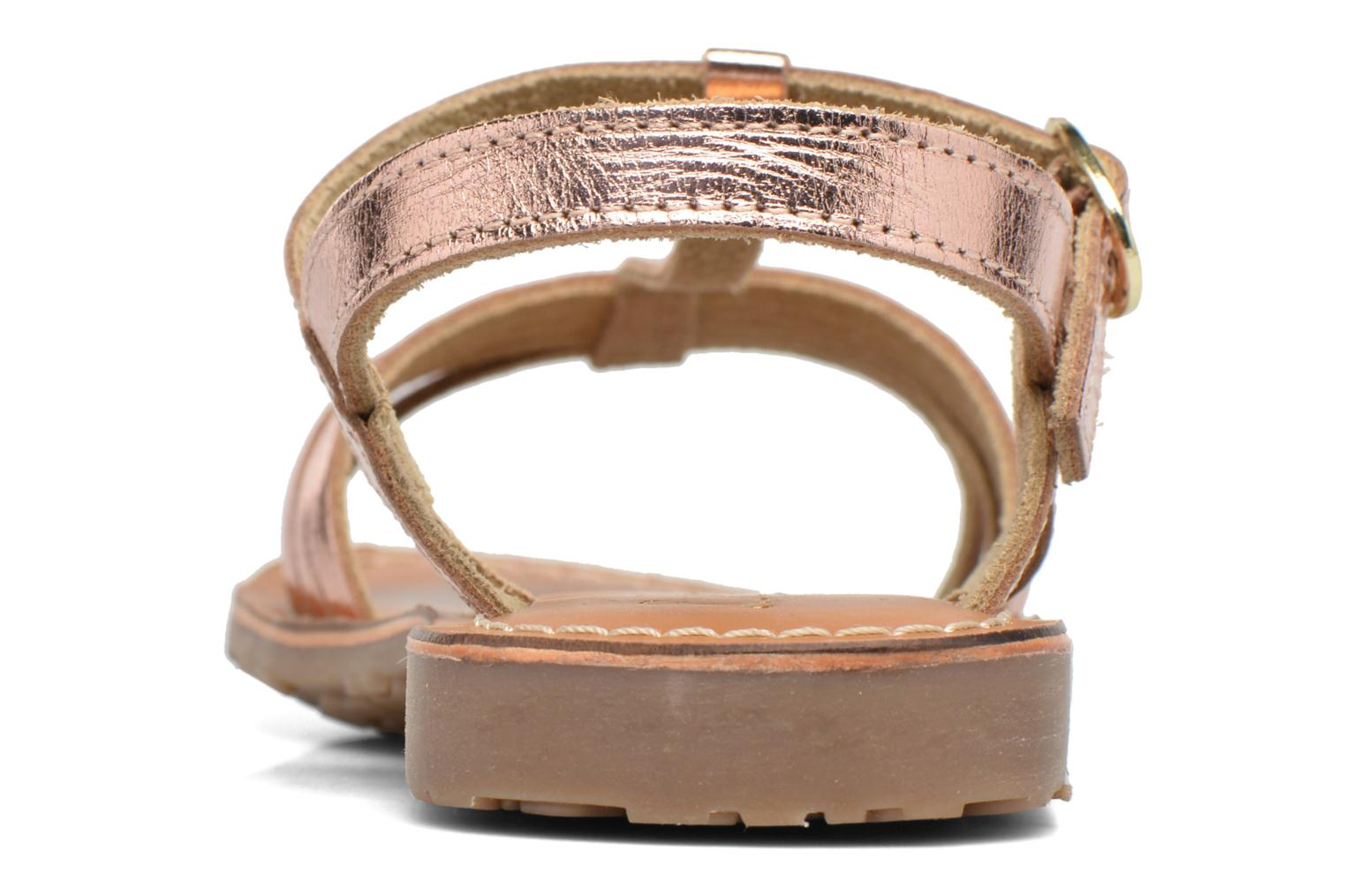Sandals L'Atelier Tropézien Margot Bronze and Gold view from the right