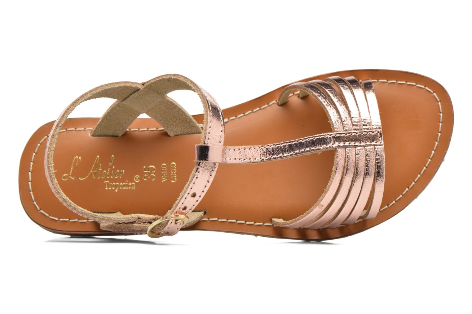 Sandals L'Atelier Tropézien Margot Bronze and Gold view from the left