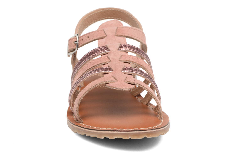 Sandales et nu-pieds L'Atelier Tropézien Mathilde Rose vue portées chaussures