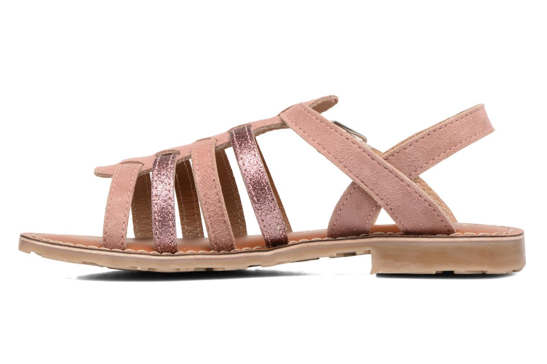 Sandales et nu-pieds L'Atelier Tropézien Mathilde Rose vue face