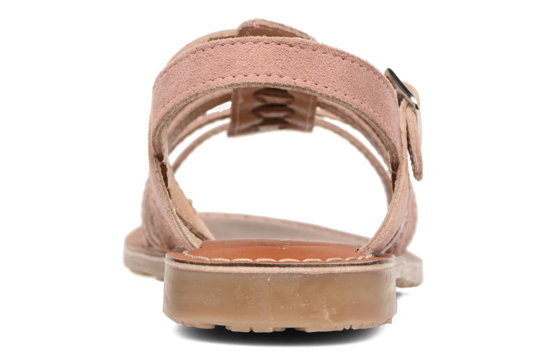 Sandales et nu-pieds L'Atelier Tropézien Mathilde Rose vue droite