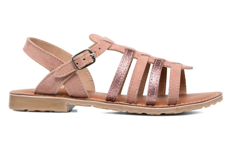 Sandales et nu-pieds L'Atelier Tropézien Mathilde Rose vue derrière