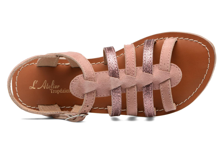 Sandales et nu-pieds L'Atelier Tropézien Mathilde Rose vue gauche