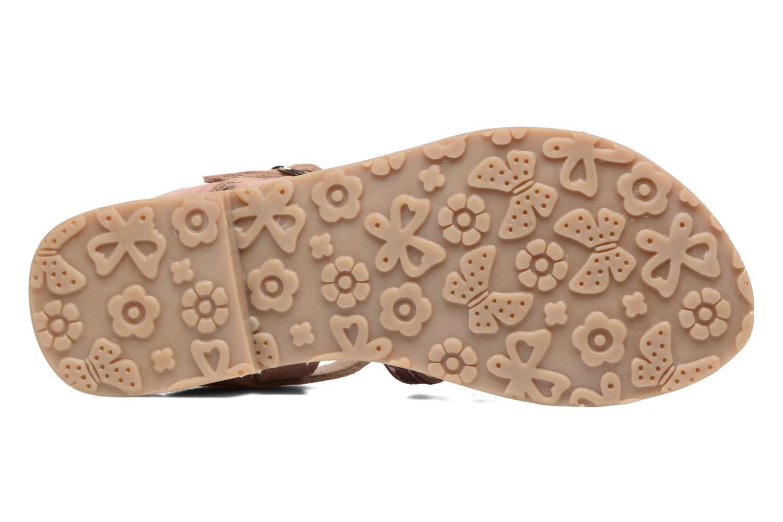 Sandales et nu-pieds L'Atelier Tropézien Mathilde Rose vue haut