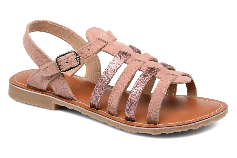 Sandales et nu-pieds L'Atelier Tropézien Mathilde Rose vue détail/paire