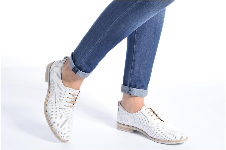 Chaussures à lacets Georgia Rose Nitrou Blanc vue bas / vue portée sac