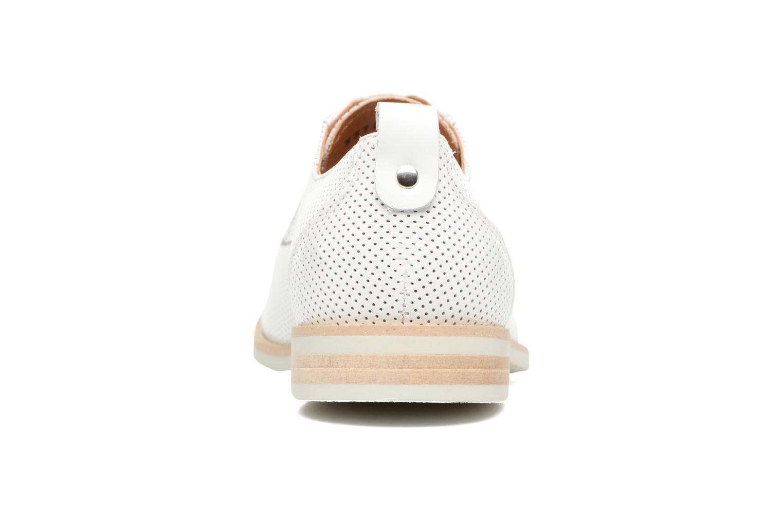 Chaussures à lacets Georgia Rose Nitrou Blanc vue droite