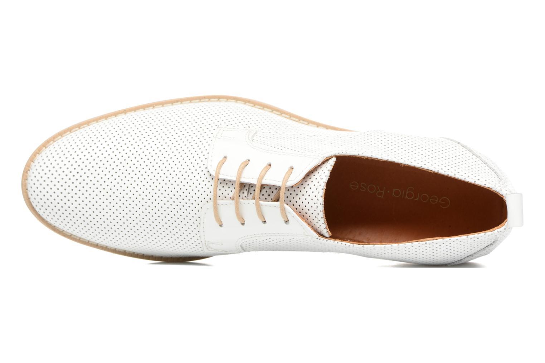 Chaussures à lacets Georgia Rose Nitrou Blanc vue gauche