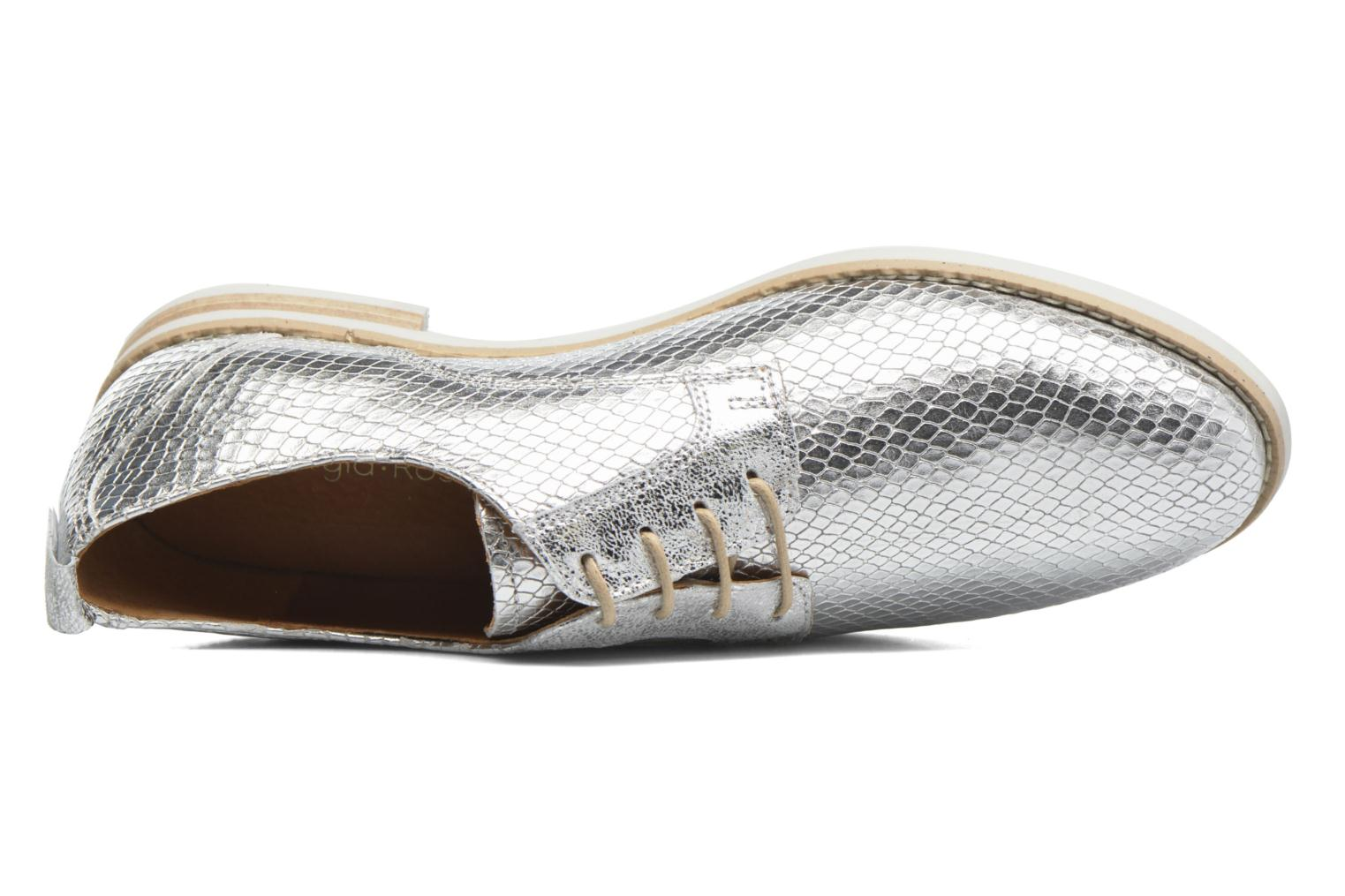 Lace-up shoes Georgia Rose Nitrou Silver view from the left