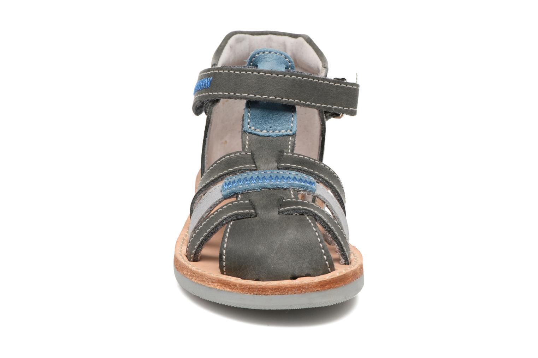 Sandales et nu-pieds Minibel Matchy Bleu vue portées chaussures