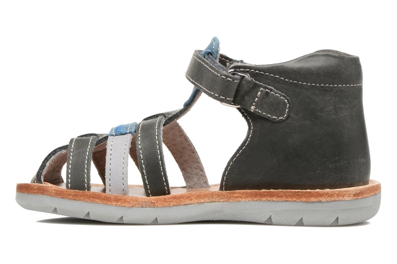 Sandales et nu-pieds Minibel Matchy Bleu vue face