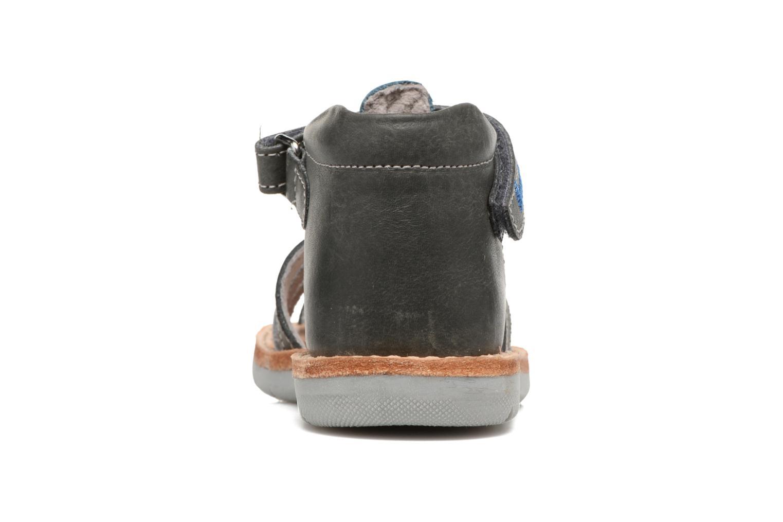 Sandales et nu-pieds Minibel Matchy Bleu vue droite